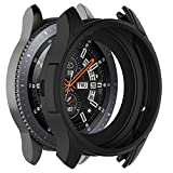 Cywulin Silicone Protection Case for Samsung Galaxy Watch 46mm, Soft TPU Scratch Proof Shockproof All-Around Protective Bumper Shell for Smartwatch SM-R805 SM-R800 Gear S3 Frontier (46mm, Black): more info