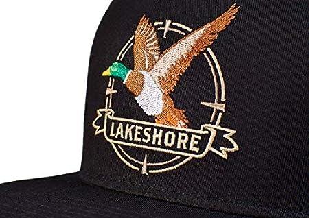 Lakeshore® Jagd Cap Snapback Jagd Kappe SchwarzCamouflage 100% Baumwolle Herren & Damen