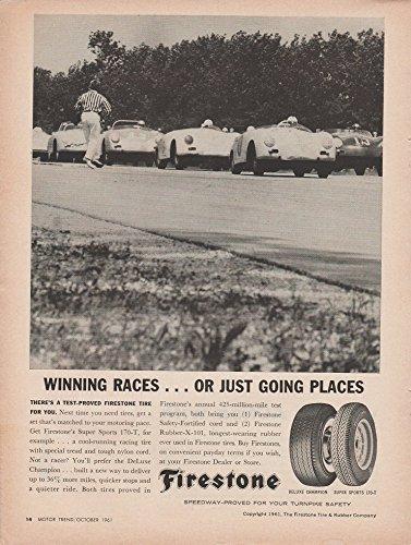1961 FIRESTONE TIRES with PORSCHES