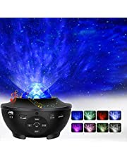 Star Projector, Ocean Wave Night Light Projector with Adjustable Lightness Remote Control Timer 10 Lighting Modes and Built-in Music Speaker for Kids Adult Bedroom Living Room