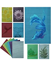 Gukasxi 30 Sheets Cyanotype Paper High Sensitivity Sun Print Nature Printing Paper(6 Colors) 8.3'' x 5.8'' Cyanotype Paper Solar Drawing Paper for Kids and Adults to Arts, Crafts, DIY Projects