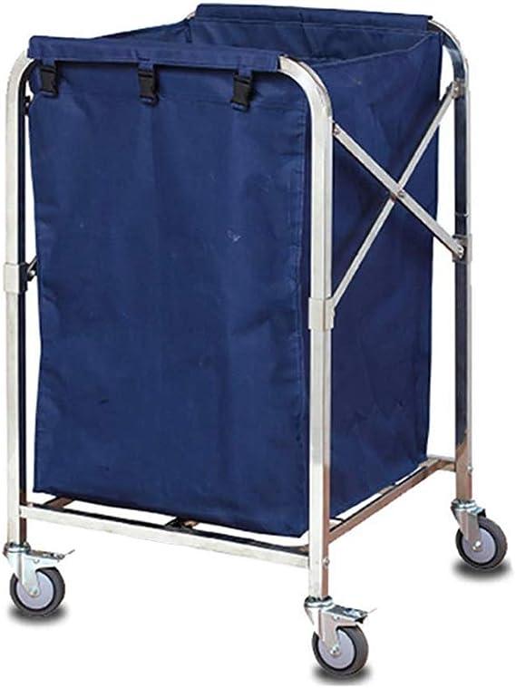 Carrito Carro Carrito De Clasificación Plegable para Lavandería Servicio De Limpieza Carrito sobre Ruedas, Marco De Acero Inoxidable, Bolsas Extraíbles De Tela Oxford, Azul (Color : Blue): Amazon.es: Hogar