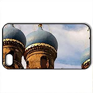 Russische Kirche, Russia - Case Cover for iPhone 4 and 4s (Monuments Series, Watercolor style, Black)