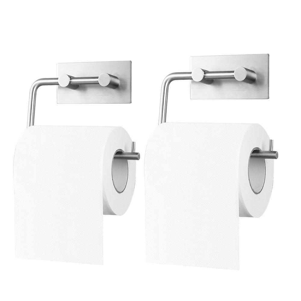 Soporte para papel higiénico 3M autoadhesivo, acero inoxidable cepillado: Amazon.es: Bricolaje y herramientas