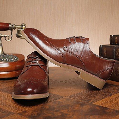Duoshengzhtg De Cordones Hombre Zapatos Papel Para Marrón xC0vZxzn