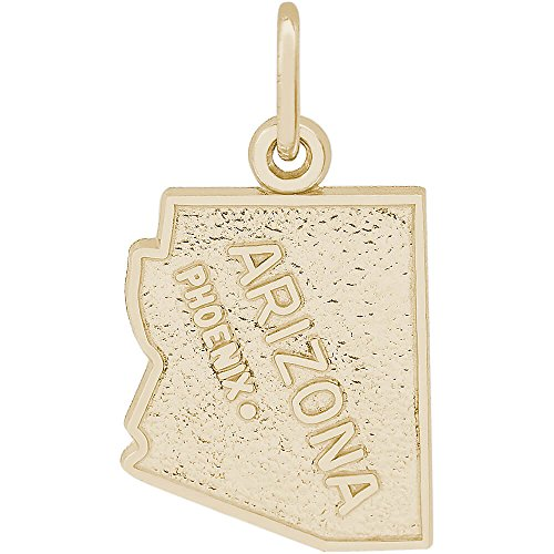 Rembrandt Charms 10K Yellow Gold Phoenix Charm (0.62 x 0.53 inches) (Rembrandt 10k Charms)