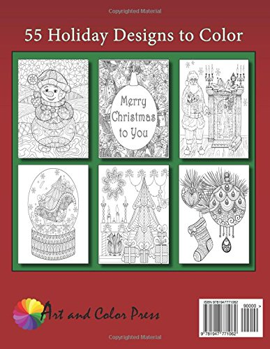 Amazon Adult Coloring Book The Big Of Christmas 55 Holiday Designs To Color 9781947771062 Art And Press Books