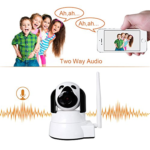 Dome-Camera-Wireless-Security-Camera-LXMIMI-HD-720P-WiFi-Baby-Cam-Pet-Monitor-PanTilt-with-Motion-Detection-Two-Way-Night-Vision-and-Motion-Detection-wireless-IP-Camera-Wifi-24-GHz