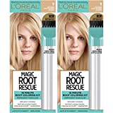 L'Oreal Paris Magic Root Rescue 10 Minute Root Hair Coloring Kit, Permanent Hair Color with Quick Precision Applicator, 100% Gray Coverage, 9 Light Blonde, 2 count