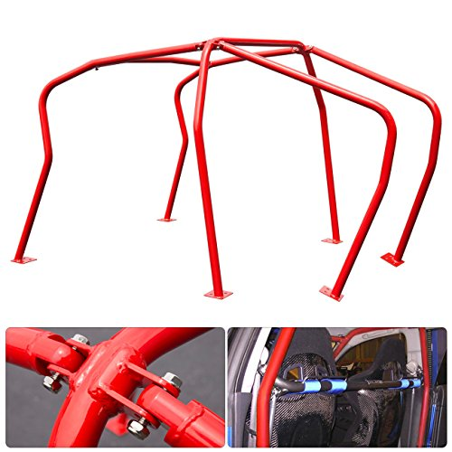 (For Vw Volkswagen Mk4 Mkiv Mark 4 Golf Gti 2.0L 1.8T Vr6 Tdi 6 Point Anti Roll Cage Safety Chassis Brace Red)