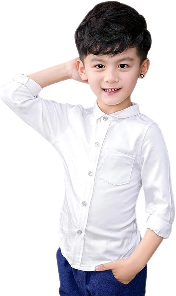 DAZISEN Conjunto de Traje Niños - Formal Niño 2 Piezas clásico Navidad Fiesta Traje de Bodas Page Boy Traje 3 – 8 años, Camisa Blanca, EU 90=Tag 100: Amazon.es: Ropa y accesorios