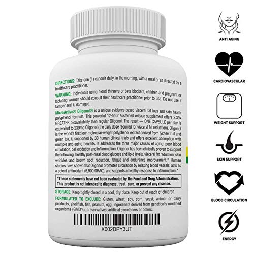 """51djYYwS9qL - MicroActive Oligonol """"Sustained Release"""" 60 Veg Caps 