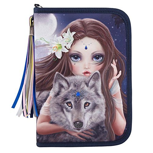 TOPModel 6420?-?Fantasy Model Pencil Case Deluxe Colorful Wolf by Top Model