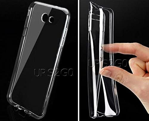 Galaxy J7 V Combo Pack Premium Anti-Shatter Tempered Glass Screen Protector Flexible Crystal Clear Soft TPU Full Edge Protective Case for Samsung Galaxy J7 V SM-J727V Phone