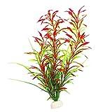Colorido Fish Tank Aquarium Artificial Plastic Water Grass Plant Landscaping Decoration - Red