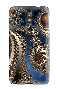 Slim Fit Tpu Protector Shock Absorbent Bumper Fractal Case For Galaxy Note 3 by lolosakes
