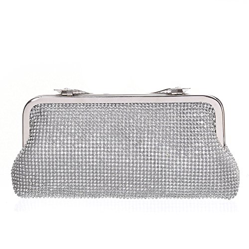 Handbags Evening Cocktail Wedding Evening SALE Flower Handbags Pearl Beaded BIG Evening Silver For Clutch qSzgw