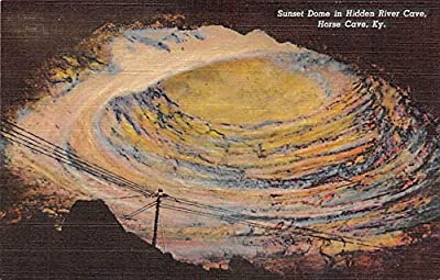 Caves Post Card Susnet Dome, Hidden River Cve Horse Cave, Kentucky, USA Unused