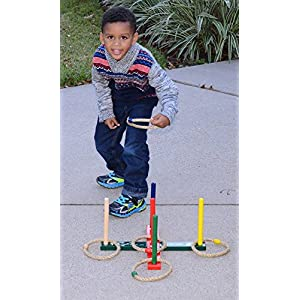 New Year FLASH SALE! Mabua Ring Toss Indoor Outdoor Games Kids Adults With 10 Quoits and Carry Bag. Toys for children boys girls - Also Available: For sell 10 Quoits and 15 Plastic Ropes
