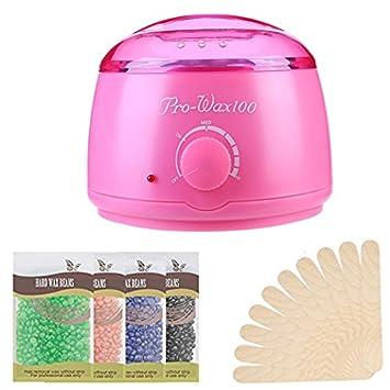 Hair Removal Wax Warmer Kit - Rapid Melt Hard Wax Kit Professional Hot Wax  Heater Waxing Kit Wax