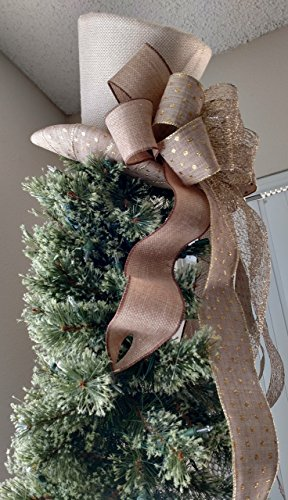 Burlap Top Hat - Tree Topper - Christmas Tree Topper -FREE SHIPPING -Rustic Tree Topper Bow -Tree Topper Top Hat -Top Hat Tree Topper -Christmas Decoration