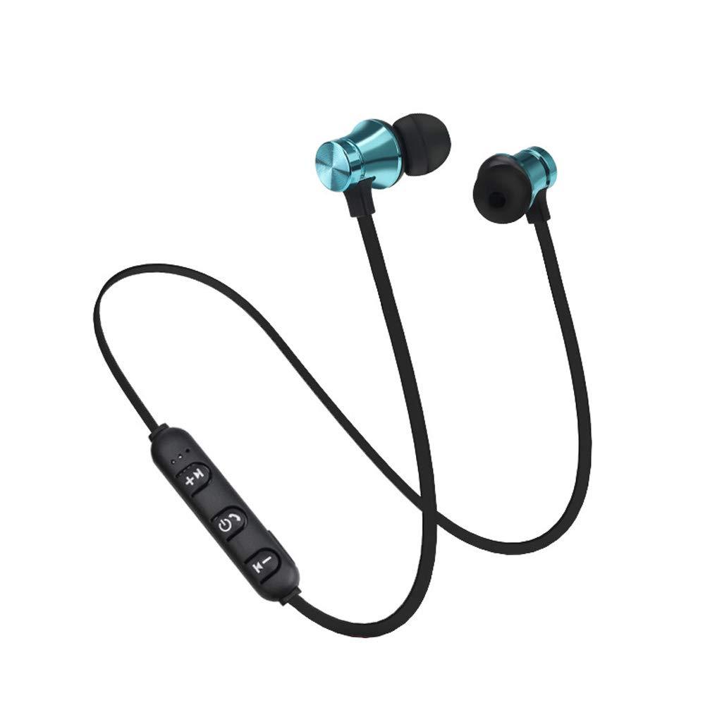 【在庫限り】 Asdf ワイヤレスBluetoothヘッドセットイヤホン ワイヤレススポーツヘッドフォン 磁気Bluetoothヘッドセット ブルー Bluetooth 4.2 サブウーファーステレオヘッドフォン, Asdf ブルー, QWE-MN-217 QWE-MN-217 ブルー B07GWTWQNP, 艶スパ:9a5d4ca1 --- diceanalytics.pk