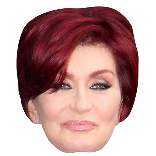 Sharon Osbourne Celebrity Mask, Card Face and Fancy Dress Mask