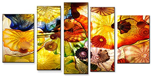 Startonight Canvas Wall Art Feeling Hypnotic, Abstract USA Design for Home Decor, Dual View Surprise Wall Art Set of 5 Total 35.43 X 70.87 Inch 100% Original Art (Halloween Decor Hobby Lobby)