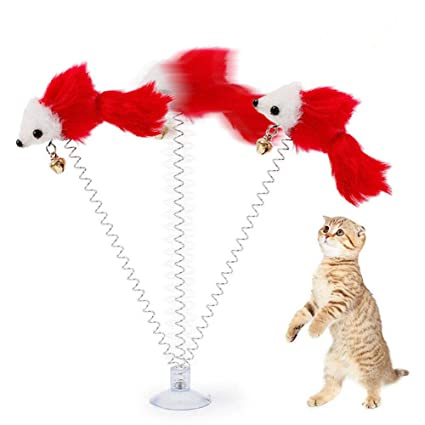 Cat Toys Pet Products Toys Pet False Mouse Cat Toy Interactive Bottom Sucker Spring Scratch Cat Puppy Pet Toy