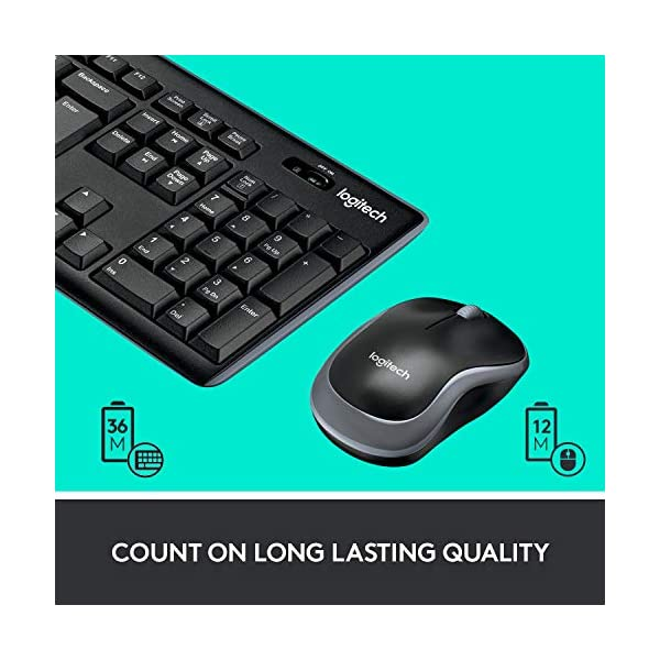 Logitech MK270 Wireless Keyboard and Mouse Combo — Keyboard and Mouse Included, 2.4GHz Dropout-Free Connection, Long…