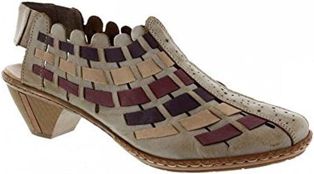 Rieker Womens 46778-62 Sling Back Heels