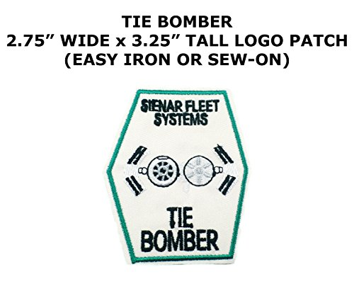 Dr Bomber (Tie Bomber Sci-Fi Star Wars Theme Cartoon Movie Films Superhero Cosplay DIY Decorative Embroidered Iron or Sew-on Patch By US Family Brand)