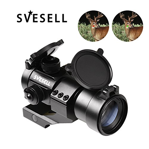 SVESELL Tactical Red Dot Sight | Green Dot Rifle Optic Reflex Sight Scope with 20mm Cantilever Mount for Rifles & - Shotgun Sights Tactical