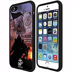 I Love My Marine Rubber Snap on Case (iPhone 6 Plus) by runtopwell