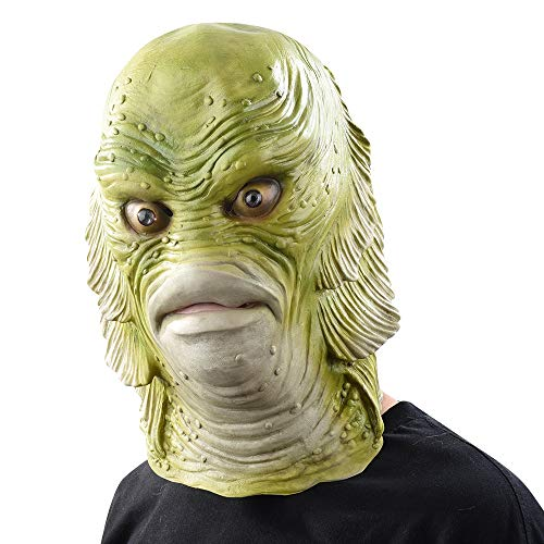 Halloween Mask Scary Monster Latex Fish Masks Creature from The Black Lagoon Cosplay Masquerade Party Horror Mask