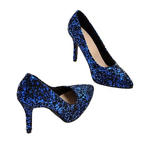 Assortito Tacco Alto Flats Colore Luccichio Ballet Donna FBUIDD007106 Azzurro Tirare AllhqFashion wgCqxIFEI