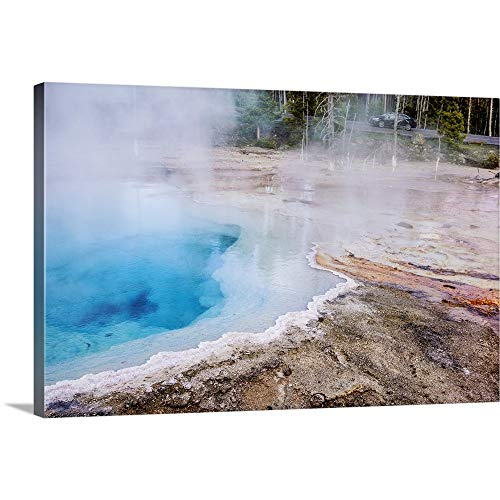 Paint Pot Yellowstone National Park - Fountain Paint Pot, Yellowstone National Park Canvas Wall Art Print, 24