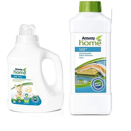 Pack Detergente Líquido Concentrado SA8 Baby y Suavizante de Tejidos Concentrado SA8 - Alpino