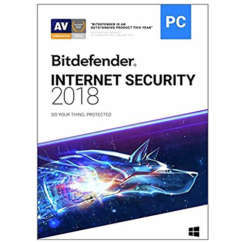 BITDEFENDER INTERNET SECURITY 2018 3 Devices 2 year CD-ROM Retail Box