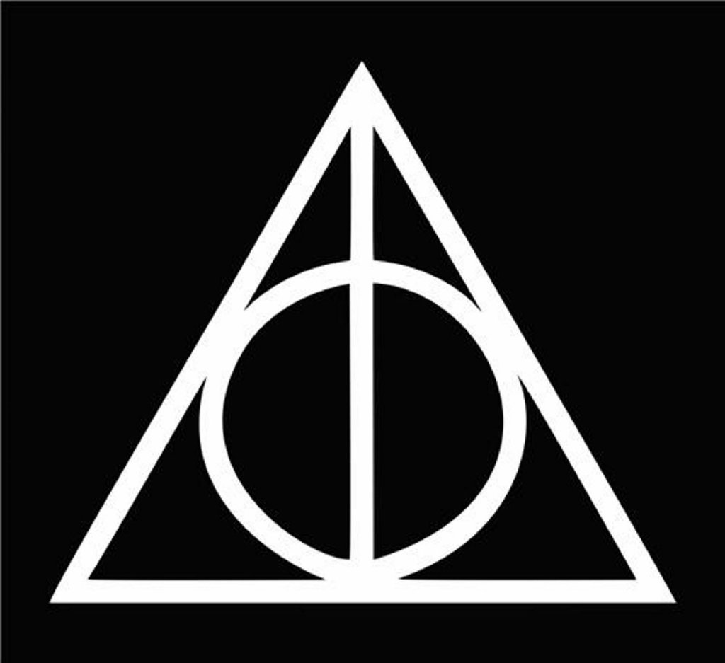Deathly Hallows Harry Potter Die Cut Vinyl Car Decal Sticker for Car Window Bumper Truck Laptop Ipad Notebook/… CCI078