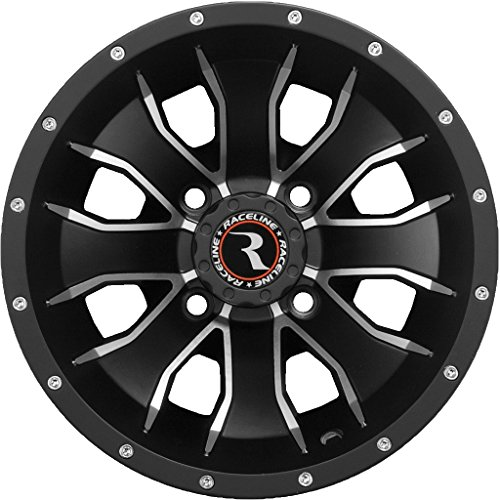 Amazon Com Raceline Mamba Atv Wheelsrims Black 14 Polaris Rzr