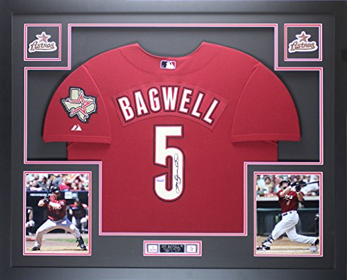 Jeff Bagwell Autographed Brick Red Astros Jersey - Beautifully Matted and Framed - Hand Signed By Jeff Bagwell and Certified Authentic by Auto Tristar COA - Includes Certificate of -