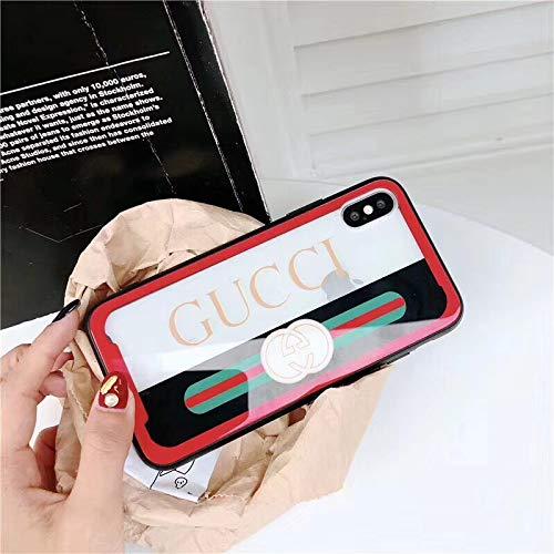 (iPhone8 Plus Case, iPhone7 Plus Case, Elegant Ultra-Slim Fashion Soft Edge Translucent Protective Cover Case for iPhone7 Plus Case, iPhone8 Plus Case (red))