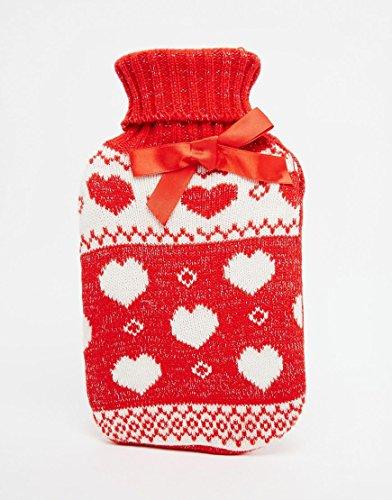 NPW Winter Warmer Heart Fair Isle Sweater over Hot Water Bottle (Fair Isle Heart)