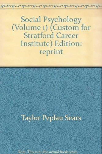 Social Psychology Volume 1