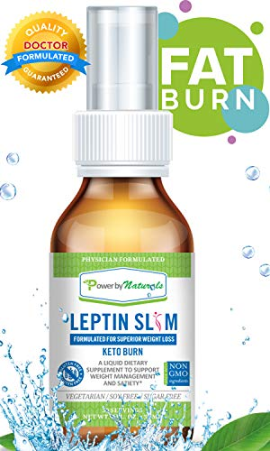 PbyN - Leptin Slim Spray - Dr. Formulated for Superior Weight Loss with DyGlofit Clinically Studies Proven to Reduce Significant Reduction in Waist and Hip, Fat Burner, and Appetite Suppressant, 1oz ()