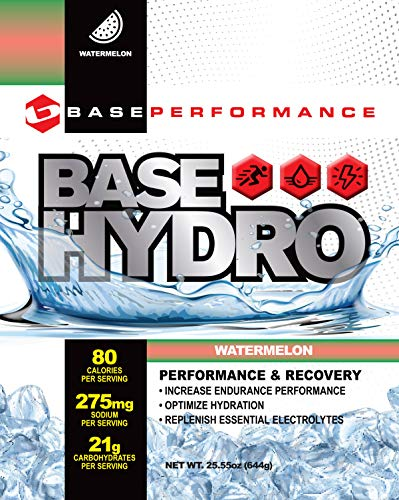 (BASE Performance Hydro - Watermelon | 28 Servings Within Each eco-Friendly Mylar Bag | Blend of Dextrose, Fructose, maltodextrin and Essential Electrolytes. (Watermelon))