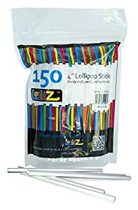 "LolliZ Food Safe, Creative, Multipurpose 4"" Lollipop Sticks, Pack of 150 in re-sealable bag"