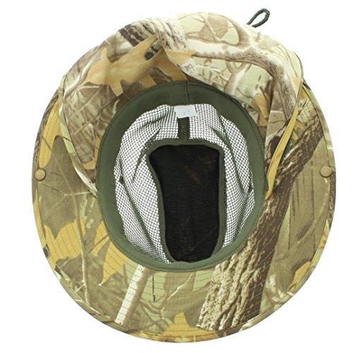 63c84a133ab342 JFH GROUP Wide Brim Unisex Safari/Outback Summer Hat w/Neck Flap (Extra