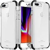 iPhone 8 Plus Case, Clear iPhone 7 Plus Case Cover Crystal Shock-Absorption Soft TPU Bumper and Anti-Scratch Ultra Slim Case for Apple iPhone 7 Plus(2016) & iPhone 8 Plus(2017) (Black)
